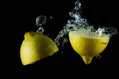 Aqueous lemon III Stock Photos