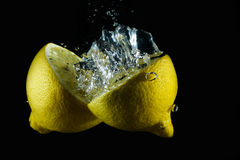 Aqueous lemon IV Stock Photo
