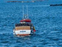 Aquiculture, mollusques et crustacés Verger d'O, Pontevedra, Espagne photographie stock libre de droits