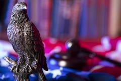 Aquila americana Tema di festa dell'indipendenza Fotografie Stock