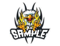 aquila calva con la mascotte tribale del fondo può usare per il logo di sport Fotografia Stock