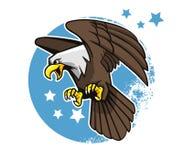 Aquila calva volante illustrazione di stock