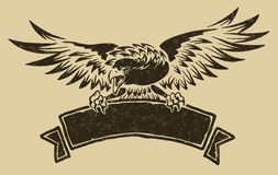 Aquila con il nastro Immagine Stock Libera da Diritti