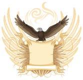 Aquila con il rotolo antico Immagine Stock Libera da Diritti