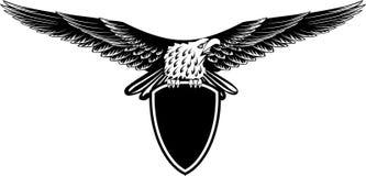Aquila con le ali raddrizzate Fotografie Stock Libere da Diritti