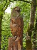 Aquila di legno Fotografia Stock