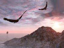 Aquila due Fotografia Stock Libera da Diritti