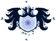 Aquila a due punte con i segni dello zodiaco isolati Fotografia Stock Libera da Diritti