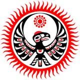 Aquila e sole mitologici di immagine Fotografia Stock Libera da Diritti