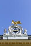 Aquila, orologio e luna Fotografia Stock Libera da Diritti