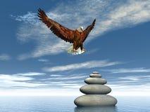 Aquila pacifica - 3D rendono Fotografie Stock