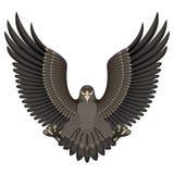 Aquila su una priorità bassa bianca Fotografie Stock Libere da Diritti