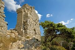 aquilar chateau Royaltyfria Bilder
