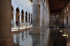 Aquileia, Ιταλία η βασιλική και τα ρωμαϊκά μωσαϊκά Στοκ φωτογραφίες με δικαίωμα ελεύθερης χρήσης