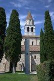 Aquileia - μια στήλη πίσω από τον καθεδρικό ναό Στοκ φωτογραφία με δικαίωμα ελεύθερης χρήσης