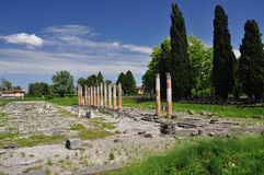 Aquileia, Friuli Venezia Giulia, Italy. Roman ruins Stock Photography