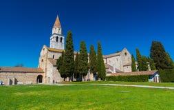 Aquileia Italien: Forntida ¡ hurch för romare Ð Royaltyfri Foto