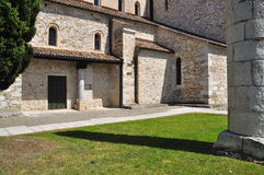 Aquileia, Italy. The basilica. Royalty Free Stock Photography