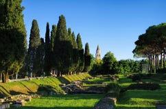 Aquileia Roman Forum royaltyfria foton