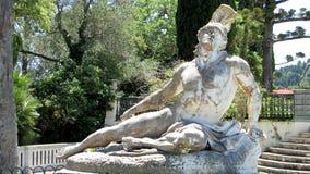 Aquiles de muerte, Corfú, Grecia Fotografía de archivo libre de regalías