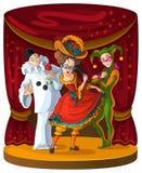Aquilégia, Harlequin e Pierrot Foto de Stock Royalty Free