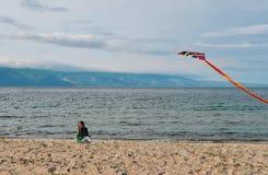 Aquilone alla spiaggia Immagini Stock Libere da Diritti