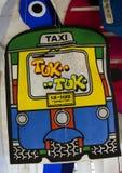 Aquilone della carta di Tuk-tuk Fotografia Stock Libera da Diritti