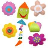 Aquilone e fiori Fotografia Stock