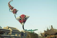 Aquiloni di opera di Pechino Fotografia Stock Libera da Diritti