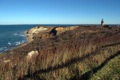 Aquinnah-Klippen von Martha-` s Weinberg, Neu-England, Cape Cod, Massachusetts Lizenzfreies Stockbild