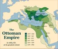 Aquisições do império otomano ilustração do vetor