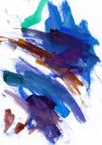 Aqwarelle tekstury błękitny skręt obraz royalty free