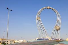 Arábia Saudita Jeddah 16 de dezembro de 2018 Dawara Falak Jeddah Falak Roundabout na opinião da rua de jeddah em Jeddah Al Bawadi imagem de stock royalty free