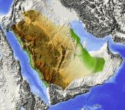 Arábia Saudita, mapa de relevo Ilustração Royalty Free