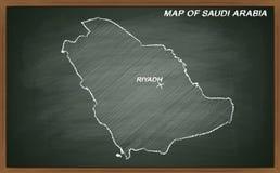 Arábia Saudita no quadro-negro Imagens de Stock Royalty Free