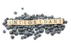 Arándanos antioxidantes imagen de archivo libre de regalías