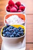 Arándanos Sugar Raspberries Imágenes de archivo libres de regalías