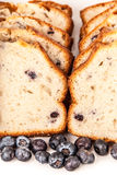 Arándanos y pan del arándano Imagen de archivo