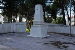 Arıburnu martyr`s monument in Canakkale in Turkey royalty free stock photography