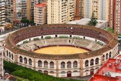 Arène à la La Malagueta de toros de plaza de Malaga photo stock
