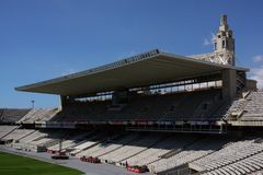 Arène Barcelone - tribune avec le toit photographie stock
