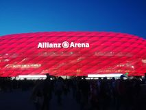 Arène d'Allianz à Munich image libre de droits