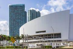 Arène d'American Airlines Maison de l'équipe de basket du Heat de Miami photographie stock libre de droits