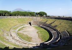 Arène d'Amphitheatres - Pompeii Images libres de droits