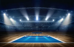 Arène de basket-ball, rendu 3d illustration stock