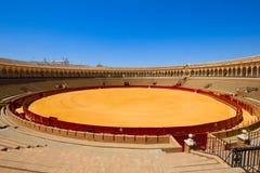 Arène de Bullring en Séville, Espagne Photographie stock libre de droits