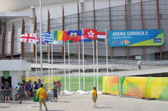 Arène 2 de Carioca des Jeux Olympiques Rio2016 images stock