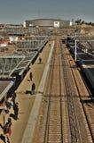 Arène de Hartwall et station realway Image libre de droits