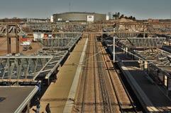Arène de Hartwall et station realway Images stock