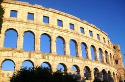 Arène de Pula - amphithéâtre romain du ` s Photo libre de droits